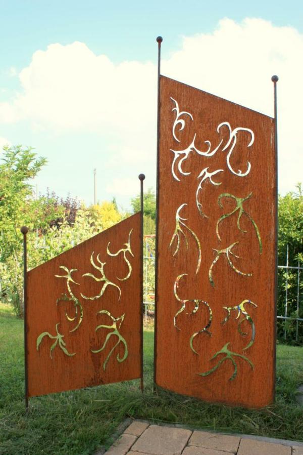 Gartendeko aus Metall 25 auffllige Bilder  Archzinenet