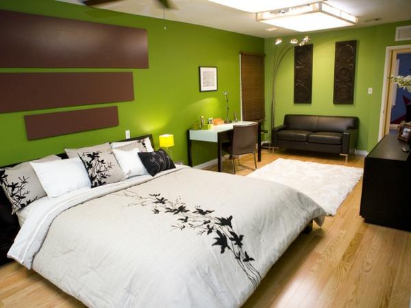 55 Ideen fr grne Wandgestaltung im Schlafzimmer  Archzinenet