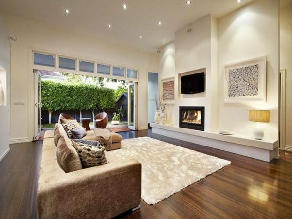 Wandfarben Wohnzimmer Modern   Wandgestaltung Ideen Farbe