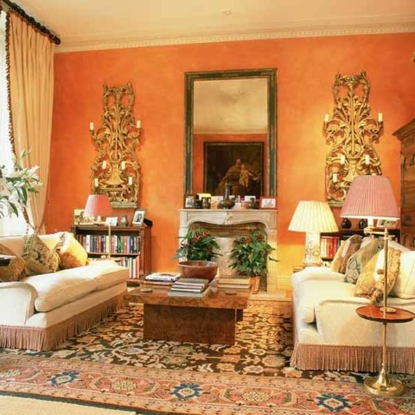 Startseite Design Bilder – Modern Wohnzimmer Orange India : Moderne ...
