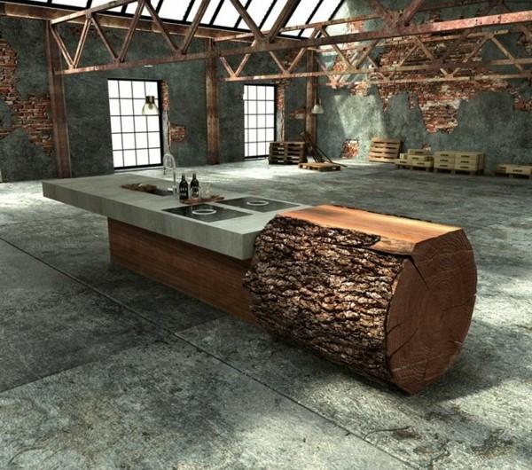 Holzstamm Als Tisch. Trendy Tisch Holzstamm Perfect With ...