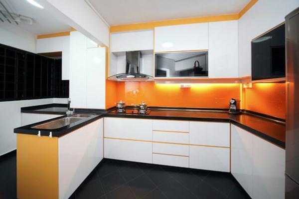 Coole Kchen Wandfarbe Gelb Orange und Rot  Archzinenet