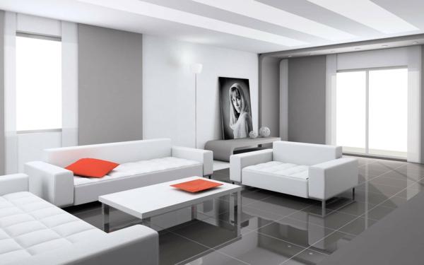 Wohnzimmer In Weiß Grau – cyberbase.co