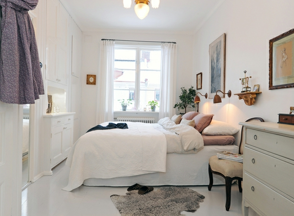 Sehr Kleine Schlafzimmer Gestalten schlafzimmer mit bett in rot Kleines Schlafzimmer Einrichten Sehr Schon Und Wei