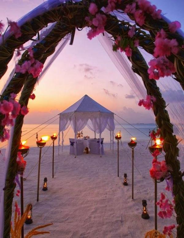 Hochzeit am Strand  ein romantischer Traum  Archzinenet