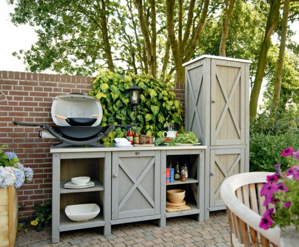 Küche Mit Fenster Und Kochinsel | Terrassengestaltung ...