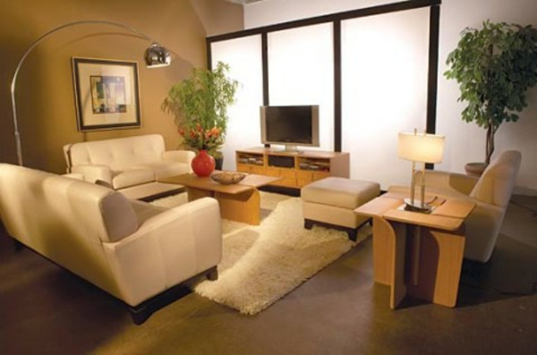 wohnzimmer modern einrichten kleiner raum indirekte beleuchtung,