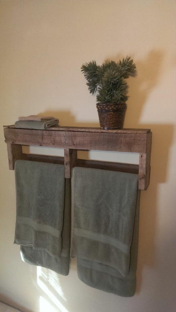 Handtuchhalter aus Holz  tolle Modelle frs Badezimmer