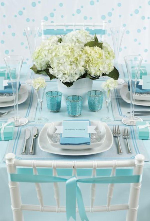 Tischdeko in Blau  faszinierende Ideen
