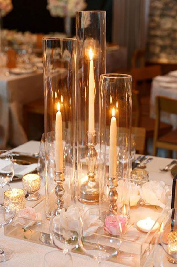 Hochzeitskerzen  romantische warme Licht   Archzinenet