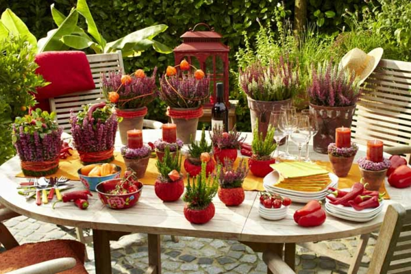 Tischdekoration Gartenparty – Home Sweet Home