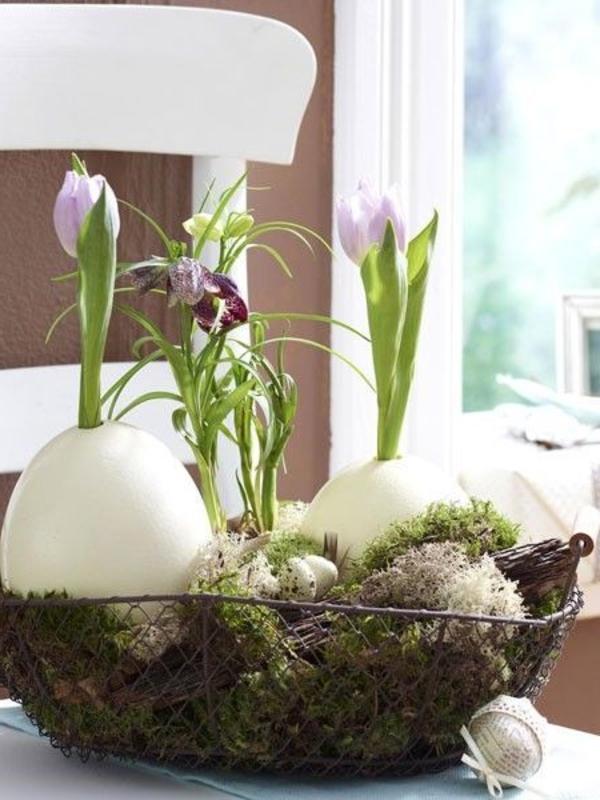 Tischdeko zum Ostern  70 frische Ideen   Archzinenet