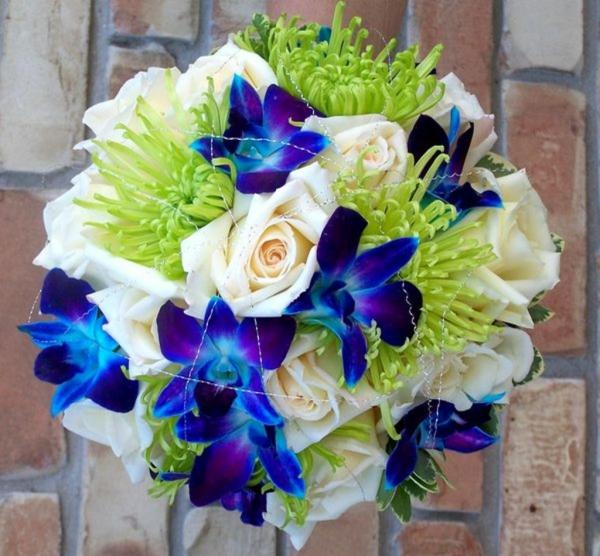 Brautstrau Mit Orchideen