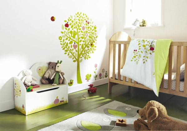 einrichtungsideen wandgestaltung ideen fur wandgestaltung in grun ... - Ideen Zur Babyzimmergestaltung