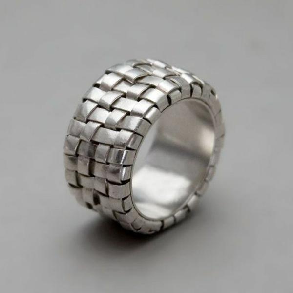 Unikale Silberringe  50 fantastische Design Ideen
