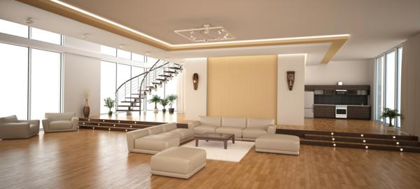 Modernes funktionellesgroes Wohnzimmer einrichten  Archzinenet