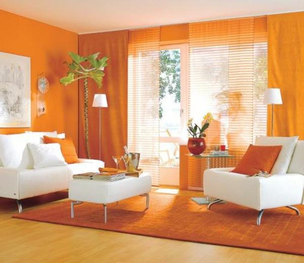 orange wohnzimmer design 40 bilder archzinenet