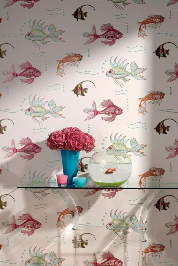 Schne Tapeten mit Fischen  21 Vorschlge