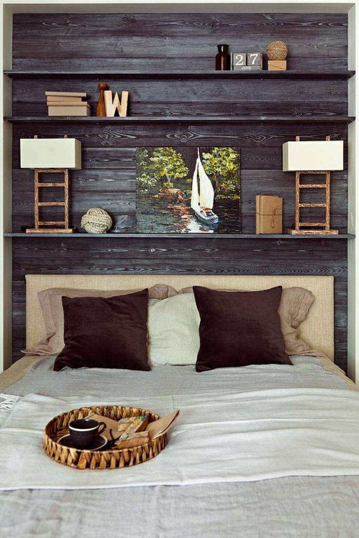 Wandverkleidung aus Holz  95 fantastische Design Ideen