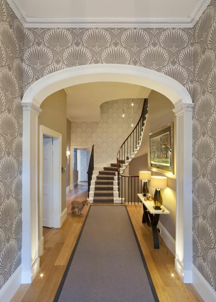 Tapete in Grau  stilvolle Vorschlge fr Wandgestaltung  Archzinenet
