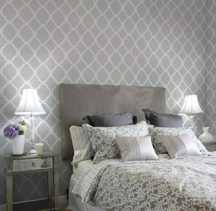 Moderne Schlafzimmer Tapeten Grau | Schlafzimmer Tapete Grau ...