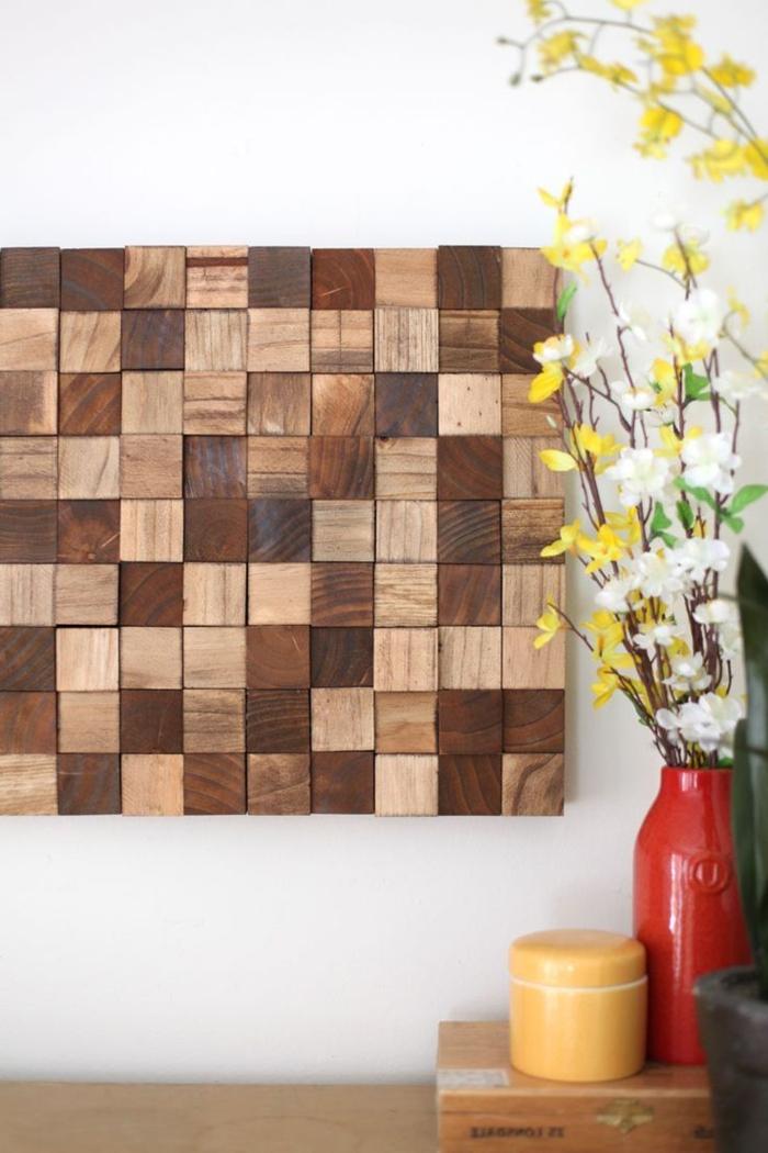 Wanddeko Wohnzimmer Holz sdatec.com