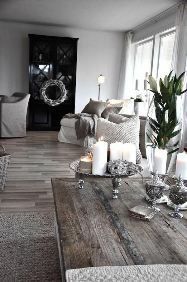 Dekoration fr Landhaus weie Motive als Akzent