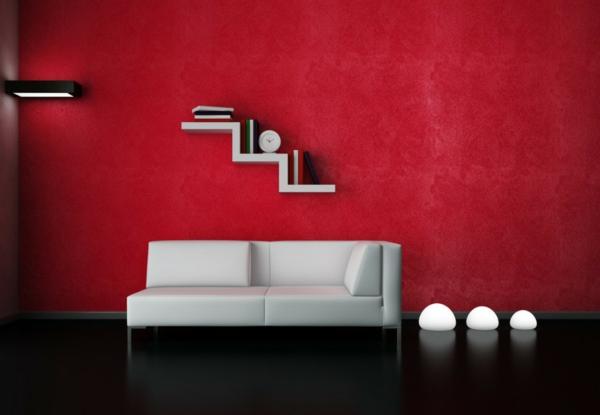 Rote Wand - 50 Ideen mit Wandfarbe Rot ! - Archzine.net