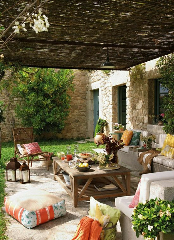 gartengestaltung mediterraner stil - boisholz, Gartenarbeit ideen