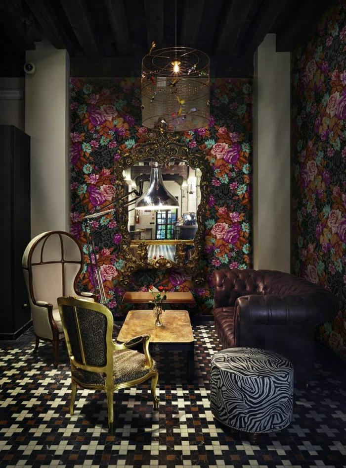 Die Barock Tapete in 48 wunderschnen Design Ideen