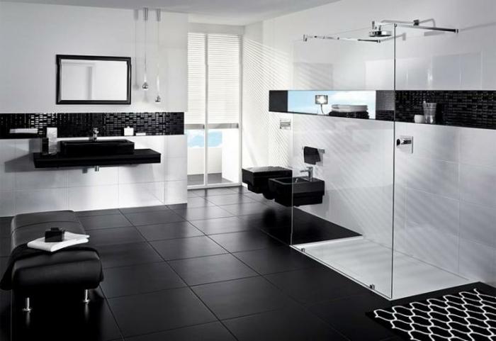 Moderne Badezimmer Schwarz Weiss Gispatchercom