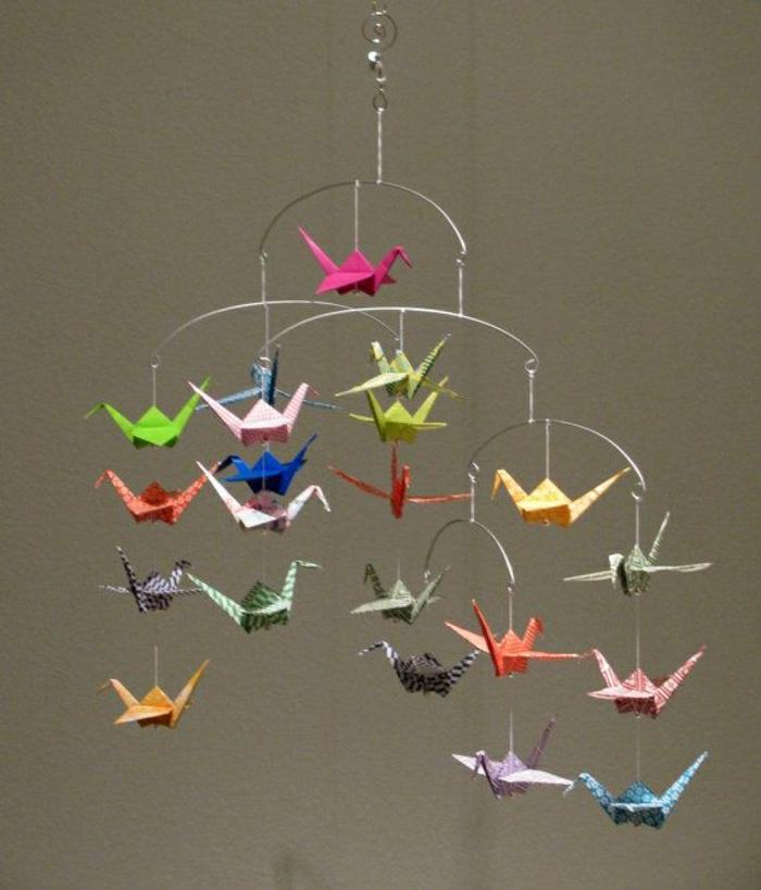 Origami Mobile Basteln  My Blog