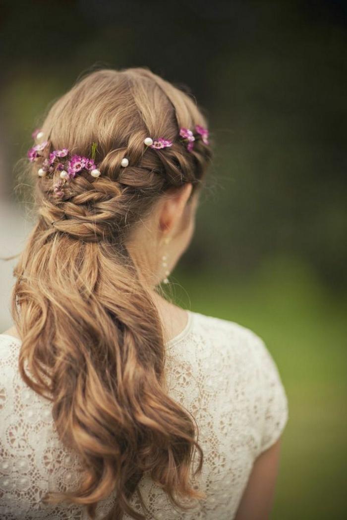44 schne Hochzeitsfrisuren fr lange Haare  Archzinenet