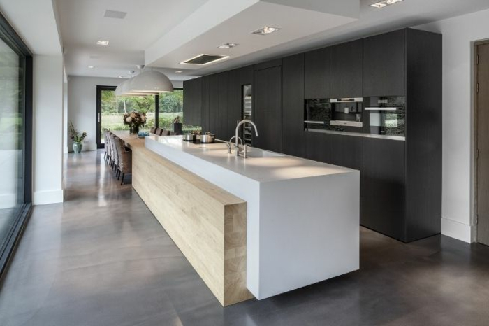 kuche mit kochinsel funktionales design – edgetags, Hause deko