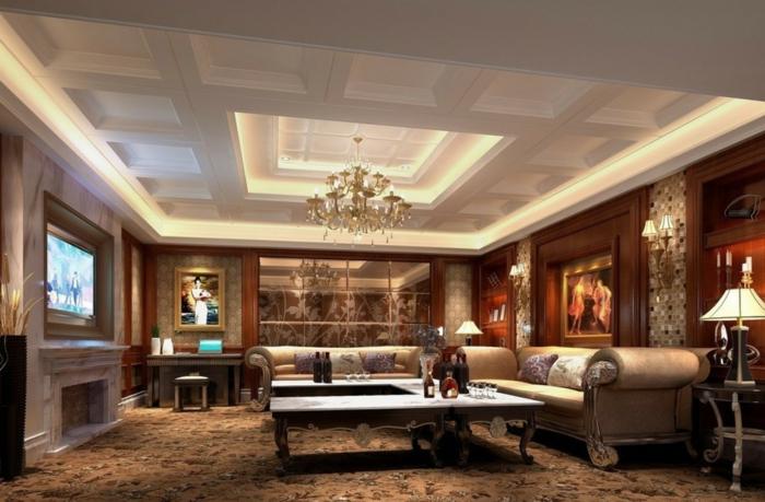 luxus wohnzimmer verbl ffende interieurs - boisholz - Wohnzimmer Wand Luxus
