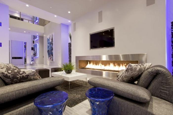 Luxus Wohnzimmer Modern Mit Kamin sdatec.com