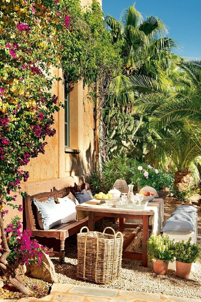 Mediterrane Gartengestaltung  31 attraktive Bilder