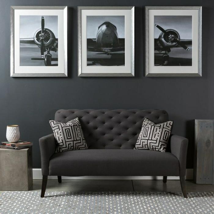 Moderne Wandbilder  37 tolle Einrichtungsideen damit