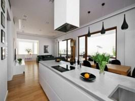 Wohnzimmer mit Küche 34 moderne Designs   Archzine.net