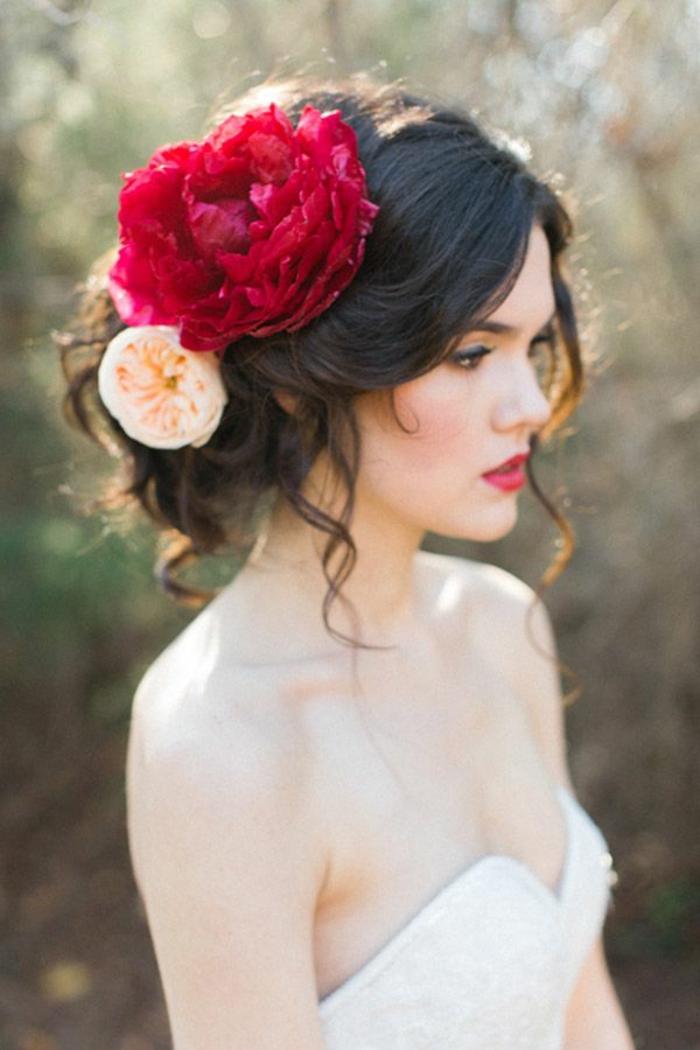 Brautfrisur mit Blumen 44 einmalige Fotos  Archzinenet