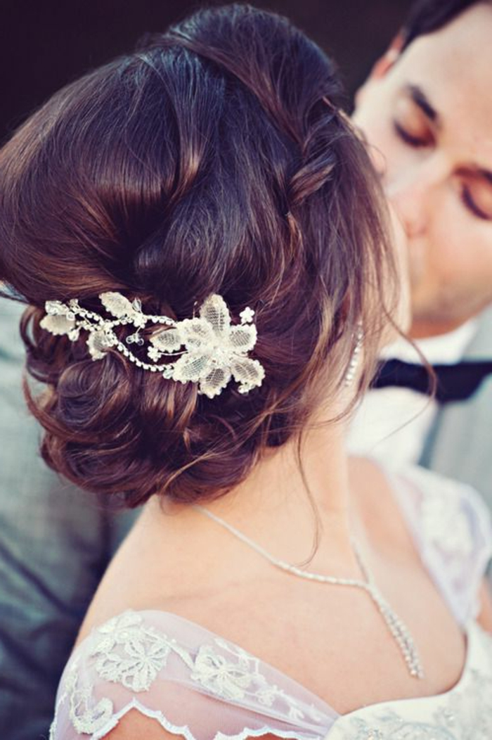 Brautfrisur Braune Haare