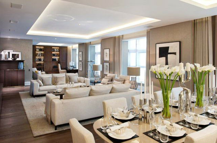 64 Beispiele Für Elegantes Wohnzimmer!  Archzinenet