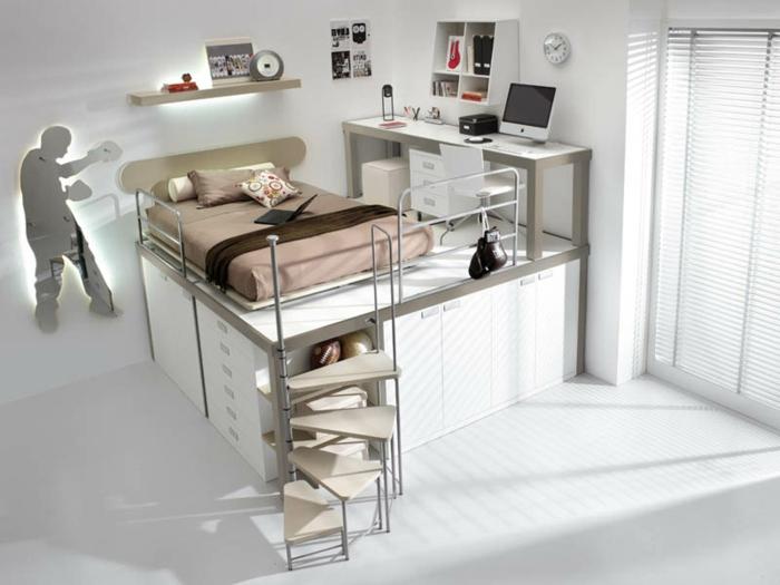 schlafzimmer einrichtung platzsparende mobel - boisholz, Badezimmer