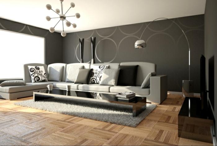 Wohnzimmer in Grau 55 super Designs  Archzinenet