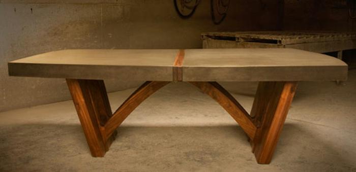 Beton Tisch Eine originelle Einrichtungsidee  Archzinenet