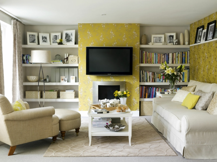Decorating Ideas Tv Over Fireplace