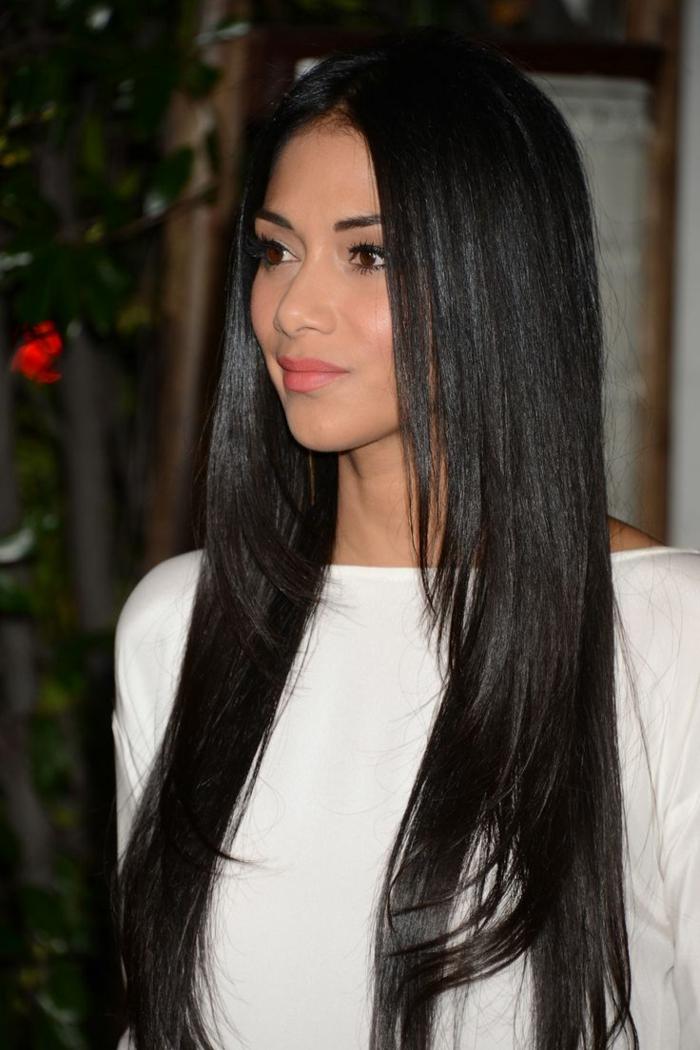 Frisuren Lange Glatte Haare Wwwpicswecom