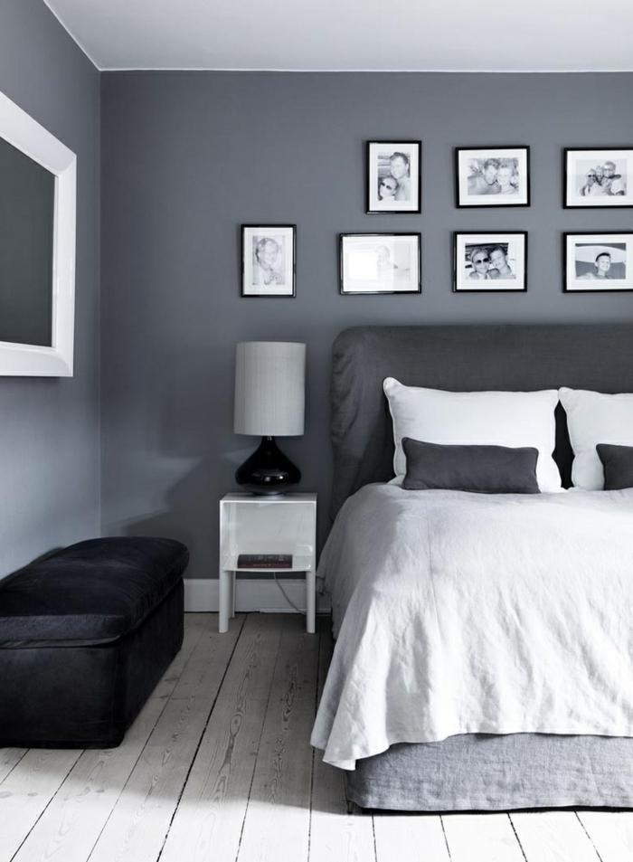 Wandfarbe Schlafzimmer Braunes Bett | Betten Für Schräge ...