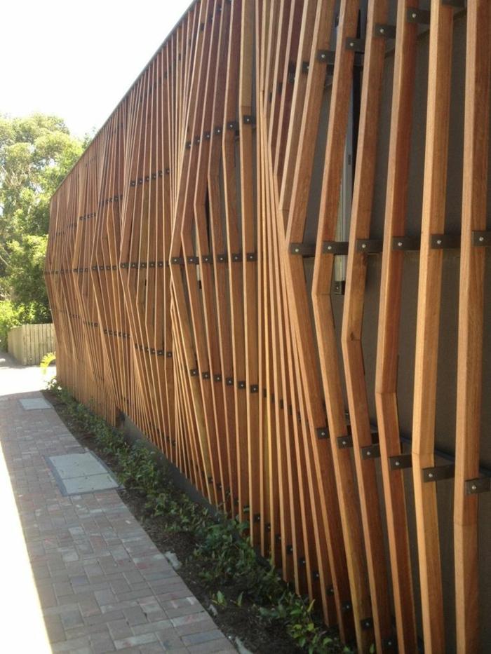Sichtschutz Aus Holz Gartenzaun Bauen