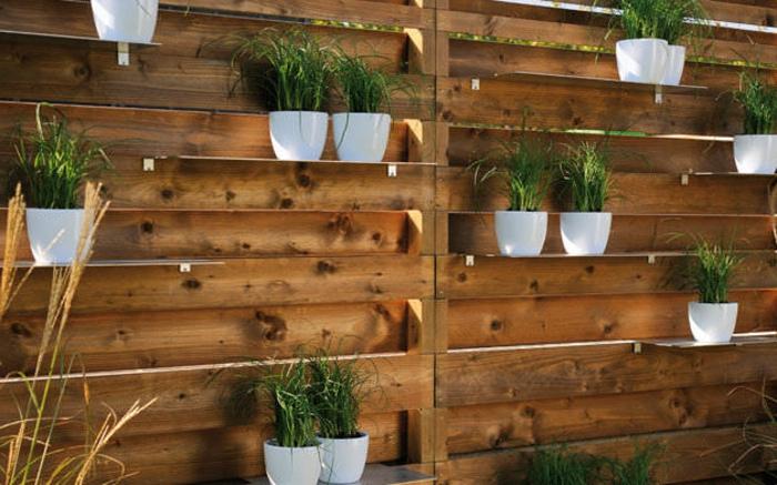 Garten Sichtschutz Holz Pflanzen | Möbelideen